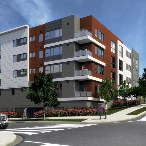 Girard Street Apartments: Front